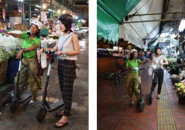 Bangkok Flower Market on Scooter Tour
