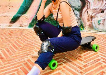 Thai Girl on Skateboard